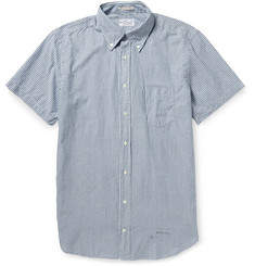 Gant Rugger Indigo Madras Striped Cotton Shirt