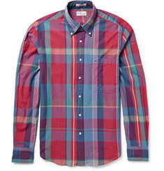 Gant Rugger Button-Down Collar Checked Cotton Shirt