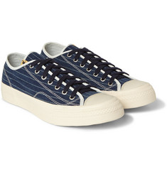 Visvim Skagway Denim and Leather Sneakers
