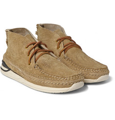 Visvim Voyageur Moc-Folk Distressed Suede Sneakers