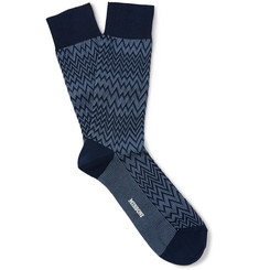 Missoni Zig-Zag Patterned Cotton-Blend Socks