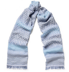 Missoni Striped Silk, Cotton and Modal-Blend Scarf