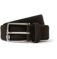 Anderson's Brown 3cm Suede Belt