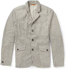 Barena Striped Linen and Cotton-Blend Jacket