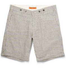Barena Striped Linen and Cotton-Blend Shorts