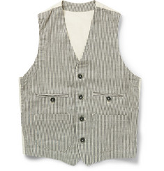 Barena Striped Linen and Cotton-Blend Waistcoat