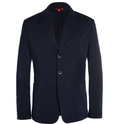 Barena Navy Unstructured Cotton-Jersey Blazer