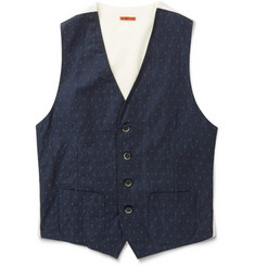Barena Chambray and Cotton Waistcoat