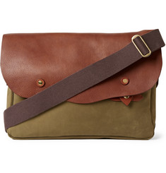 Bill Amberg Hunter Nubuck and Leather Messenger Bag