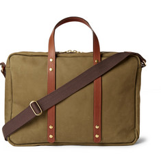 Bill Amberg Hunter Nubuck and Leather Briefcase