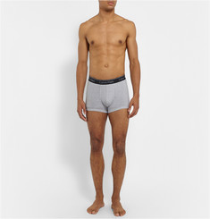 Calvin Klein Underwear Striped Cotton-Blend Boxer Briefs