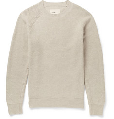 Folk Ribbed-Knit Cotton Sweater