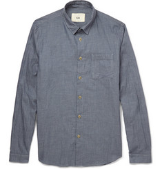 Folk Herringbone Checked Fine-Cotton Shirt