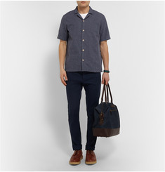 Folk Box-Stitched Cotton Shirt