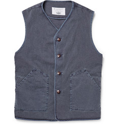 Private White V.C. Goodwood Worksuit Denim Gilet