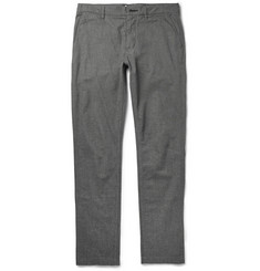 NN.07 Slim-Fit Herringbone Cotton-Blend Trousers
