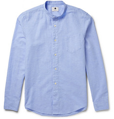 NN.07 Samuel Cotton and Linen-Blend Chambray Oxford Shirt
