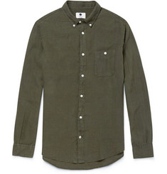 NN.07 New Dereck Garment-Dyed Linen Shirt