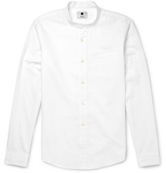 NN.07 Samuel Cotton and Linen-Blend Grandad Shirt