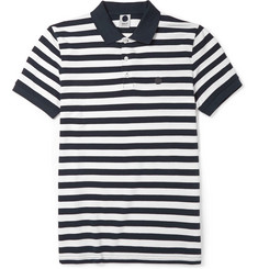 NN.07 Striped Pima Cotton-Piqué Polo Shirt