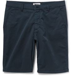 NN.07 Brushed Stretch-Cotton Twill Shorts