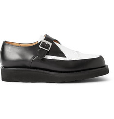 Grenson Two-Tone Leather Monk-Strap Shoes