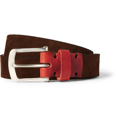 Oliver Spencer Brown 3cm Suede Belt