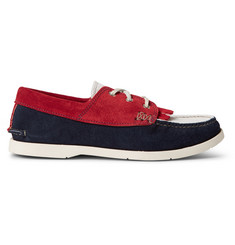 Yuketen Colour-Block Fringed Suede Moccasin Shoes