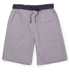 Hanro Checked Cotton Lounge Shorts
