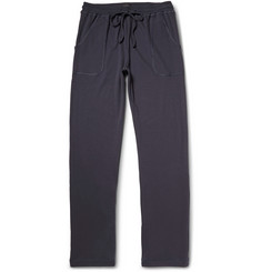 Hanro Ribbed Cotton-Jersey Sweatpants