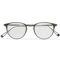 Garrett Leight California Optical Round-Frame Acetate and Titanium Sunglasses