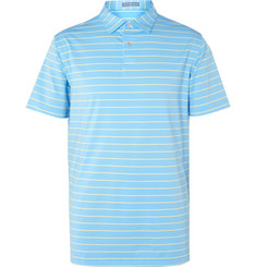Peter Millar Quarter Striped Stretch-Jersey Golf Polo Shirt