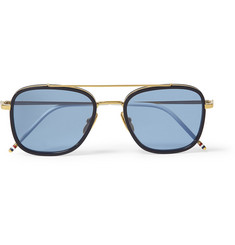 Thom Browne Acetate Aviator Sunglasses