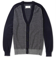 Maison Margiela Striped Cotton and Wool-Blend Jacquard Cardigan