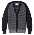 Maison Margiela - Striped Cotton and Wool-Blend Jacquard Cardigan