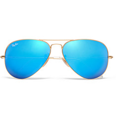 Ray-Ban Polarised Mirrored Metal Aviator Sunglasses