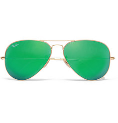Ray-Ban Aviator Metal Mirrored Polarised Sunglasses
