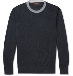 Doriani Fine-Knit Cashmere and Silk-Blend Sweater