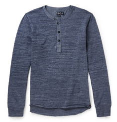 Grayers Todd Chambray and Cotton-Jersey Henley T-Shirt