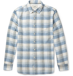 Grayers Taylor Double-Cloth Checked Cotton Shirt