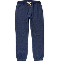 Alex Mill Cadet Indigo-Dyed Mélange Loopback Cotton-Jersey Sweatpants