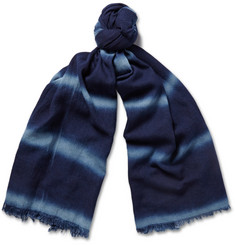 Alex Mill Indigo-Dyed Cotton Scarf