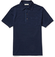 Alex Mill Indigo Cotton-Piqué Polo Shirt