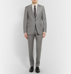 Huntsman Grey Slim-Fit Wool Suit