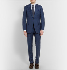 Huntsman Navy Slim-Fit Wool Suit