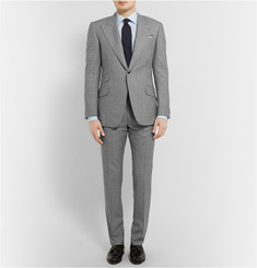 Huntsman Grey Prince of Wales Check Wool Suit