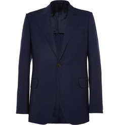 Huntsman Navy Slim-Fit Wool Blazer