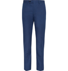 Huntsman Slim-Fit Cotton Trousers