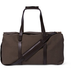 Mismo Leather-Trimmed Cotton-Canvas Holdall