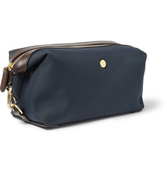 Mismo Leather-Trimmed Cotton-Canvas Wash Bag
